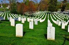 Arlington Krajowy cmentarz fotografia stock
