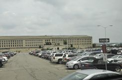 Arlington, la Virginie, le 5 juillet : Le bâtiment du Pentagone d'Arlington en Virginie Etats-Unis Photographie stock