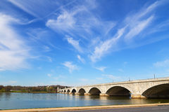 Arlington Memorial Bridge across Potomac River connects Washington DC and Virginia. Stock Photography