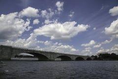 Arlington Memorial Bridge Over the Potomac River Stock Photo