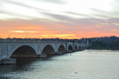 Arlington Memorial Bridge, Washington DC USA. Arlington Memorial Bridge, horizontal view - Washington DC USA Stock Photos