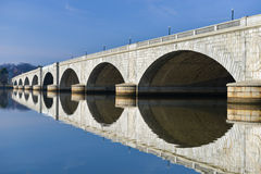 Arlington Memorial Bridge, Washington DC USA. Arlington Memorial Bridge, horizontal view - Washington DC USA Stock Image