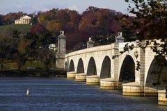 Arlington minnes- bro Arkivbild