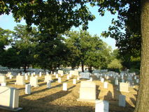 Arlington National Cemetary. Looking across Arlington National Cemetary Stock Images