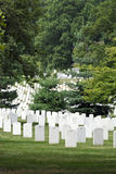 Arlington National Cemetery. Field of headstones at Arlington National Cemetery in Washington DC Royalty Free Stock Images
