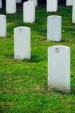 Arlington National Cemetery. Field of headstones at Arlington National Cemetery in Washington DC Stock Photo