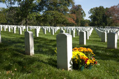 Arlington National Cemetery. View of the Arlington National Cemetery in the fall Stock Photo