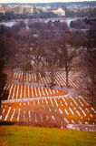 Arlington National Cemetery. Graves at the Arlington National Cemetery Stock Images