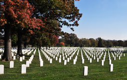 Arlington National Cemetery 5. View of the National Cemetery in Arlington Virginia. The cemetery is the final resting place for American servicemen. Also Stock Photography