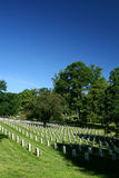 Arlington National Cemetery. With deep blue skies royalty free stock images