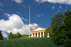 Arlington National Cemetery. The Arlington House Royalty Free Stock Photo