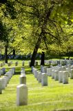 Arlington National Cemetery. Rows of toombstones mark the graves of over 300'00 American troops from the Army, Navy and Airforce burried at Arlington National Stock Images