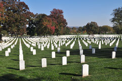 Arlington National Cemetery 8. View of the National Cemetery in Arlington Virginia. The cemetery is the final resting place for American servicemen. Also Royalty Free Stock Image