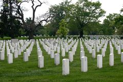 Arlington National Cemetery. White gravestones in Arlington National Cemetery Stock Photo