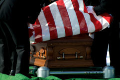 Arlington National Cemetery flag over casket Royalty Free Stock Photography