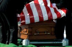 Arlington National Cemetery flag over casket Royalty Free Stock Photography