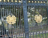 Arlington National Cemetery Gate, Virginia, USA. There are thousands of graves at Arlington National Cemetery, USA. America`s Shrine to those who honorably Stock Image