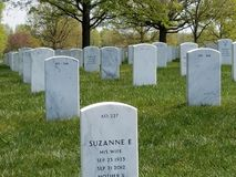 Arlington National Cemetery headstone royalty free stock images