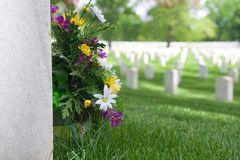 Arlington National Cemetery Tombstone Stock Photo