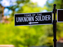 Arlington National Cemetery Unknown soldier Stock Images