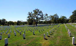 Arlington National Cemetery. View inside Arlington National Cemetery in Arlington, VA USA Stock Photo