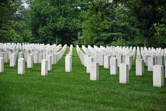 Arlington National Cemetery in Washington DC Stock Images