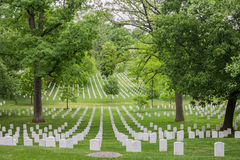 Arlington National Cemetery in Washington DC. Gravestones on the Arlington National Cemetery in Washington DC Stock Image