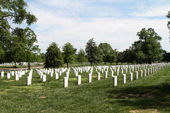 Arlington Nationale Begraafplaats Stock Afbeeldingen