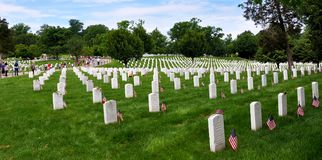 Arlington-nationaler Friedhof, Virginia, USA stockbilder