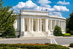 Arlington Pamiątkowy amfiteatr przy Arlington Krajowym cmentarzem Zdjęcia Stock