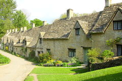 Arlington-Reihen-Häuschen, Bibury, Cotswolds, England Lizenzfreie Stockfotografie