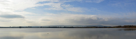 Arlington Reservoir east Sussex on a Still day. Royalty Free Stock Photo