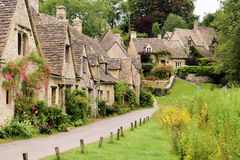 Arlington Row. Houses of Arlington Row in the village of Bibury, England Royalty Free Stock Photo