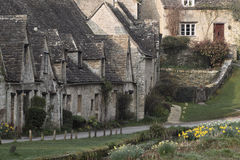 Arlington Row  Bibury Cotswolds Springtime Royalty Free Stock Photos