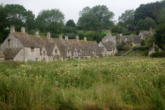 Arlington Row cottages in Bibury, Gloucestershire stock photo