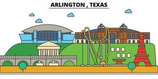 Arlington, Teksas Miasto linii horyzontu architektura Obrazy Royalty Free