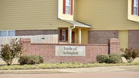 Arlington Tennessee Community Sign images stock
