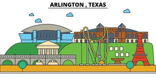 Arlington,Texas. City skyline architecture  Royalty Free Stock Images