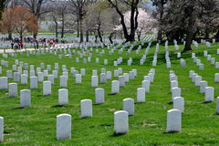 Arlington, VA: Military Graves at Arlington Nat'l Cemetery Royalty Free Stock Images