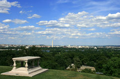 Arlington View of D.C. View from top of hill at  Arlington House looking toward D.C Stock Images