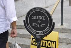 Arlington, Virgínia, o 5 de julho: Quadro indicador do cemitério de Arlington de Virgínia EUA Foto de Stock