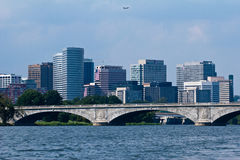Arlington over the Francis Scott Key Bridge royalty free stock images