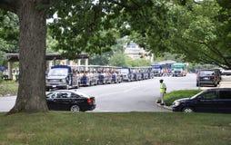 Arlington, Virginia Juli, 5.: Arlington-Kirchhof-Sightseeing-Tour-Tram von Virginia USA Stockfotografie
