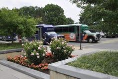 Arlington, Virginia, Lipiec 5th: Arlington Cmentarniany autobus od Virginia usa Obrazy Royalty Free