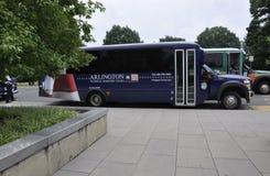 Arlington, Virginia, Lipiec 5th: Arlington Cmentarniany autobus od Virginia usa Zdjęcie Stock