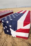 Arlington West Coffin Royalty Free Stock Photo
