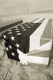 Arlington West Coffin Stock Photos
