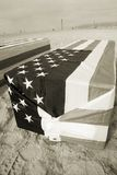 Arlington West Coffin Sepia Stock Photography
