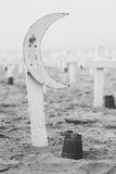 Arlington West Crescent Marker BW Royalty Free Stock Photos