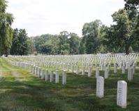 Arlingtonbegraafplaats van rechterkant Stock Afbeelding